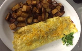 Omelet and potatos