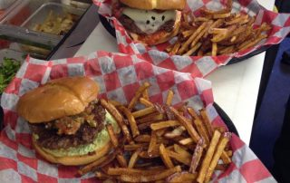 Specialty burgers and fries